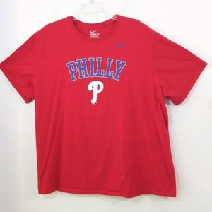 Nike red Philly T-shirt Athletic cut tee 3X